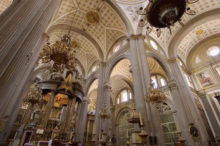 Interior de la Catedral de Puebla Mexico