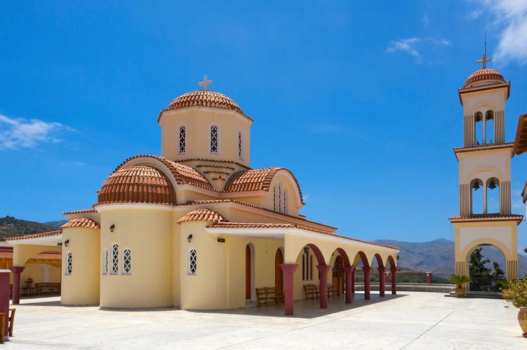 Monastery in Spili, central Crete, Greece, Europe