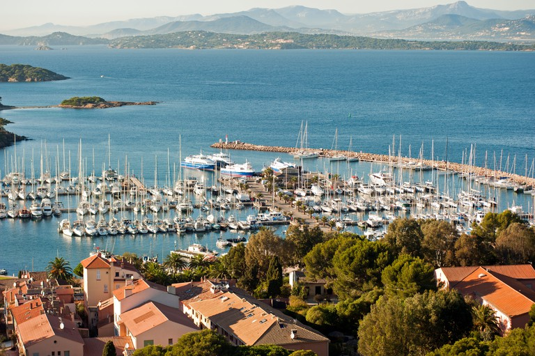 Scenic view of Porquerolles Port Cros National Park Hyeres France