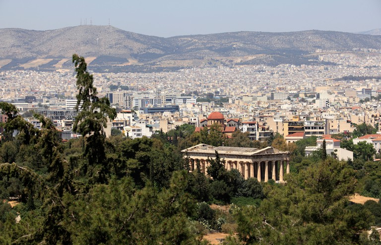 greece athens the athenian agora temple of hephaistos