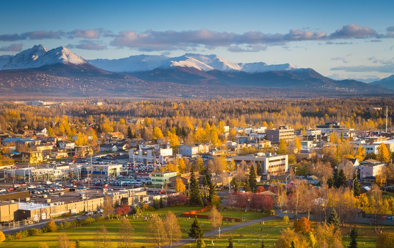 Downtown Anchorage in Alaska