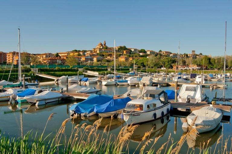 Italy, Umbria, Castiglione del Lago, Slow City, Lago Trasimeno, marina