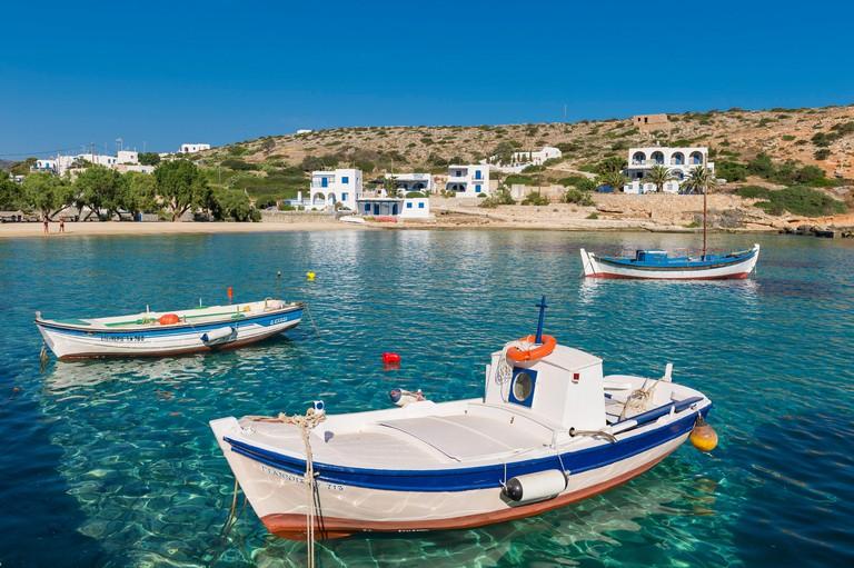 Greece, Cyclades islands, Small Cyclades, Iraklia island, Agios Giorgios port
