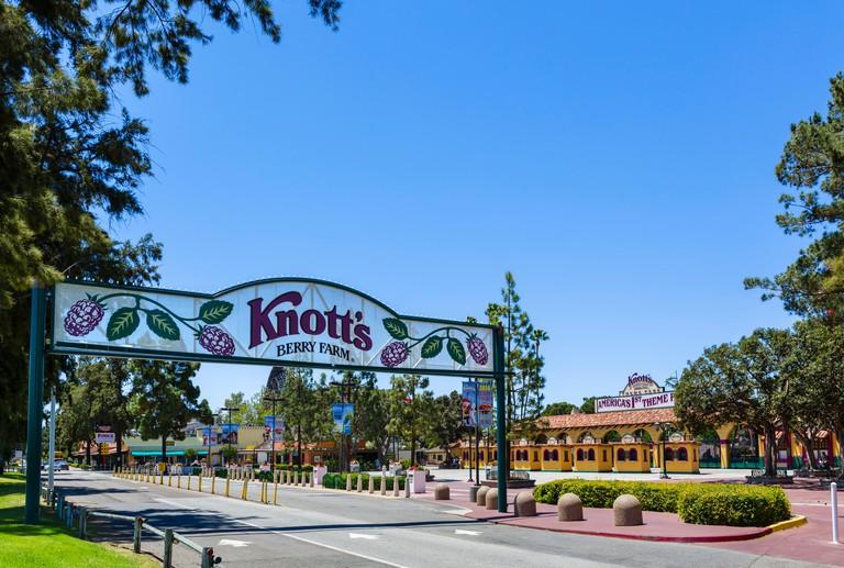 Entrance to Knott's Berry Farm, Buena Park, Orange County, near Los Angeles, California, USA