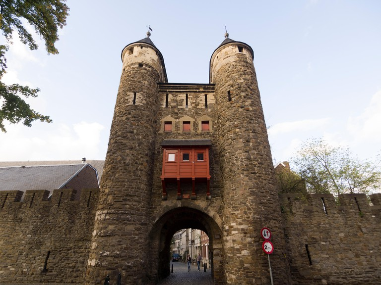 Helpoort or Hell's Gate, medieval city-gate to Maastricht, The Netherlands, Europe