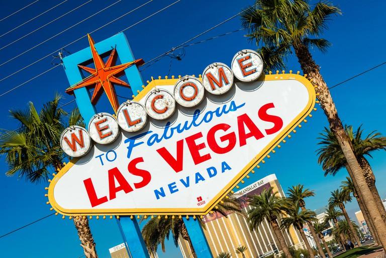 Welcome to Fabulous Las Vegas sign, Las Vegas, Nevada, USA