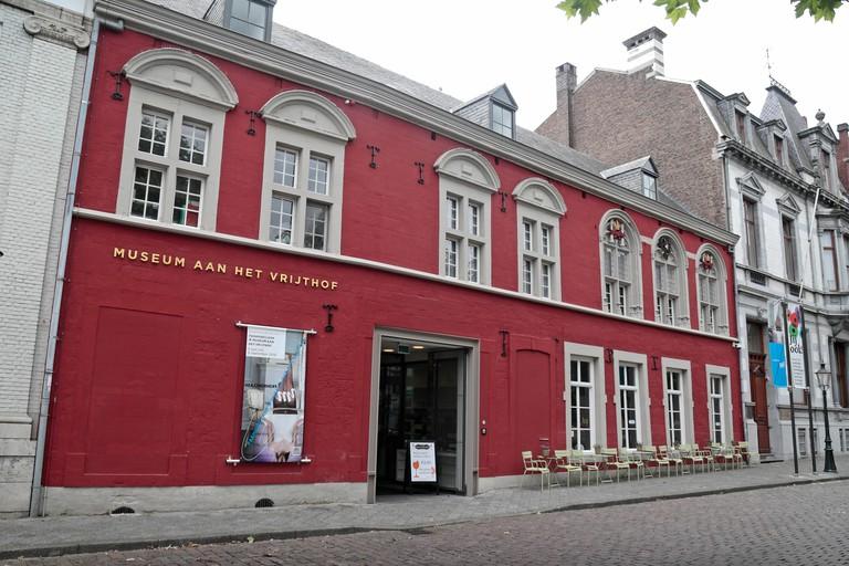 Exterior view of the Museum Aan Het Vrijthof in Maastricht, Limburg, Netherlands.