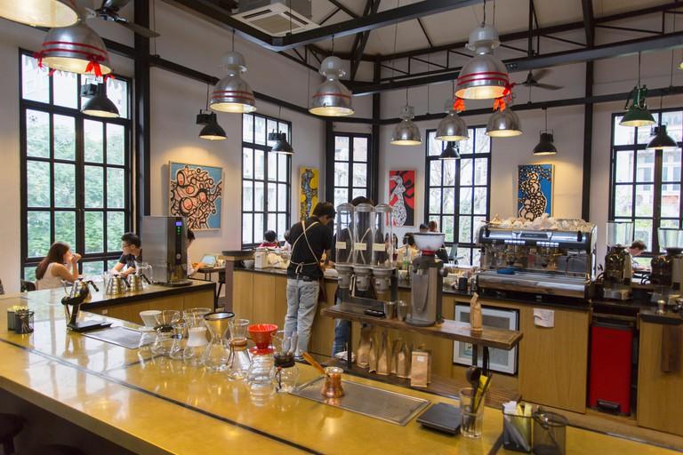 The Workshop Cafe, Ho Chi Minh City, Vietnam, Indochina, Southeast Asia, Asia