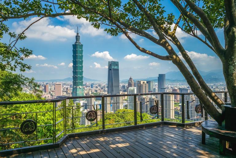 Panoramic view of Taipei City in taiwan