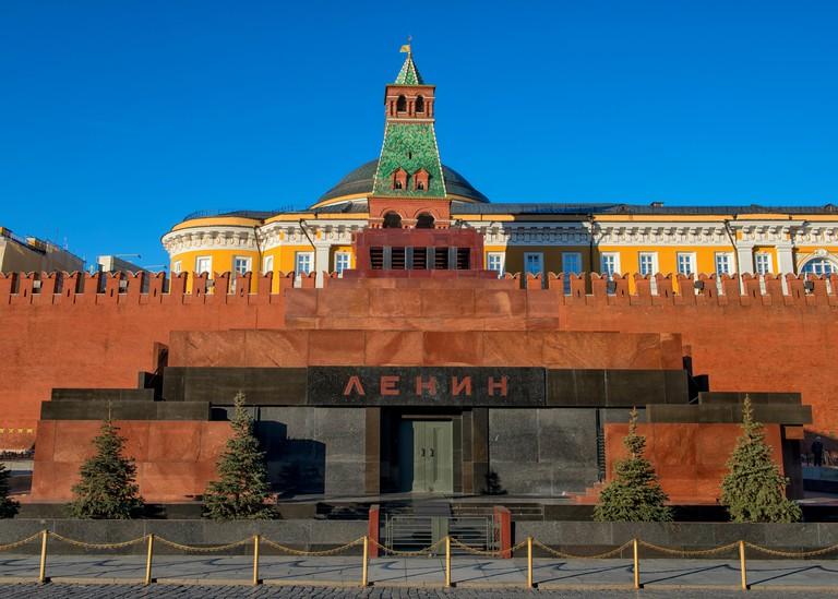Lenin's Mausoleum in Moscow, Russia