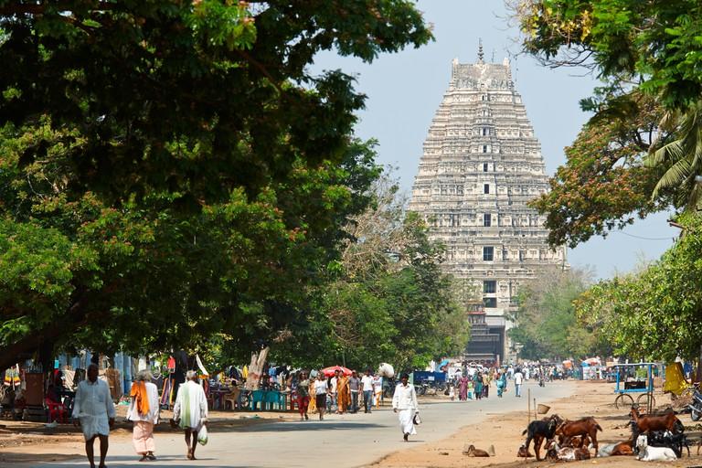 Virupaksha Temple, Hampi Bazar, Hampi, Karnataka, India