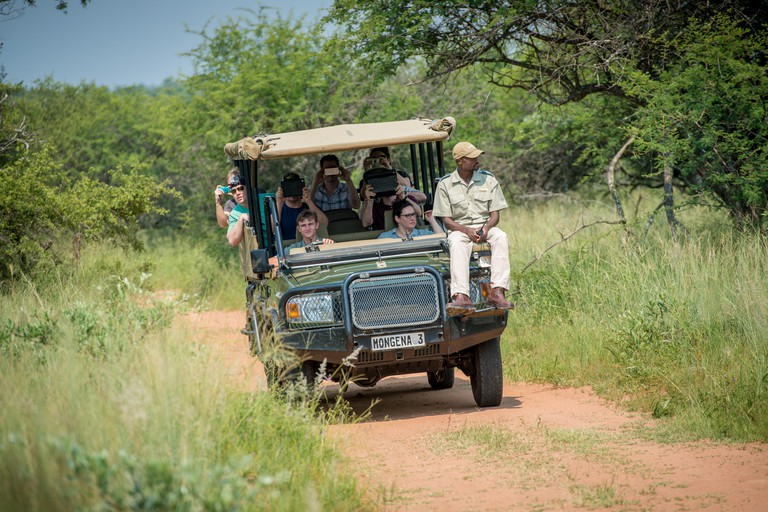 SOUTH AFRICA- Tourists on Safari in the Dinokeng Game Reserve