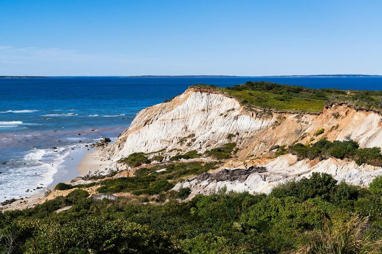 Gay Head cliffs and Moshup beach, Aquinnah, Martha's Vineyard, Massachusetts, USA