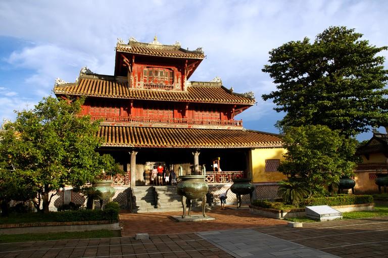 Pavilion in the Dynastic Courtyard, Hue Citadel, Vietnam
