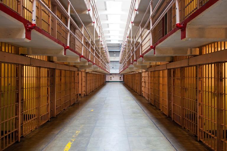 Prison Cells in Alcatraz, San Francisco, USA
