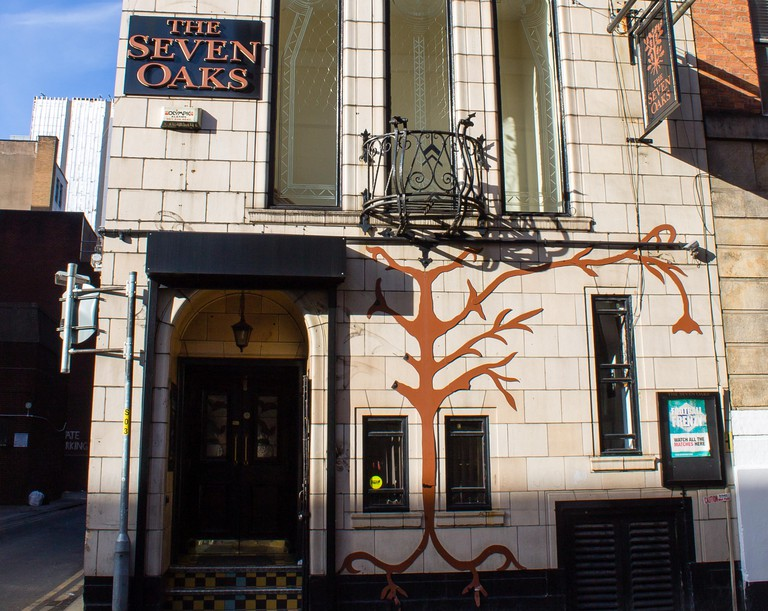 The Seven Oaks Pub in central Manchester, United Kingdom.
