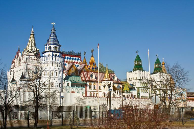 Cultural-entertainment centre Kremlin in Izmaylovo (Izmaylovsky), Moscow.