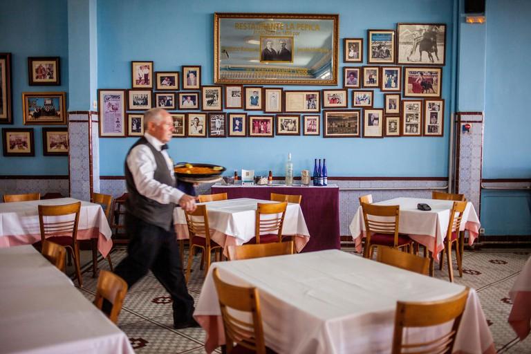 La Pepica restaurant,6 Passeig Neptú,Malvarrosa beach.Valencia - FDAM0J