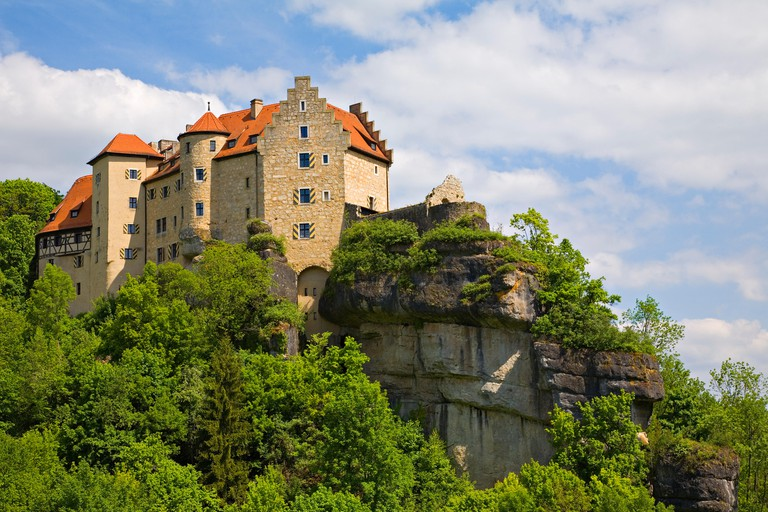 castle rabenstein,ahorntal,ailsbachtal
