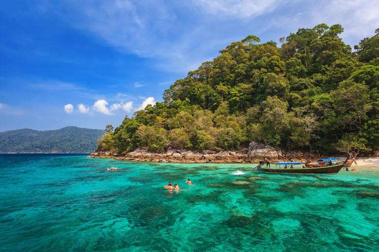 snorkel diving at Koh Lipe, Thailand