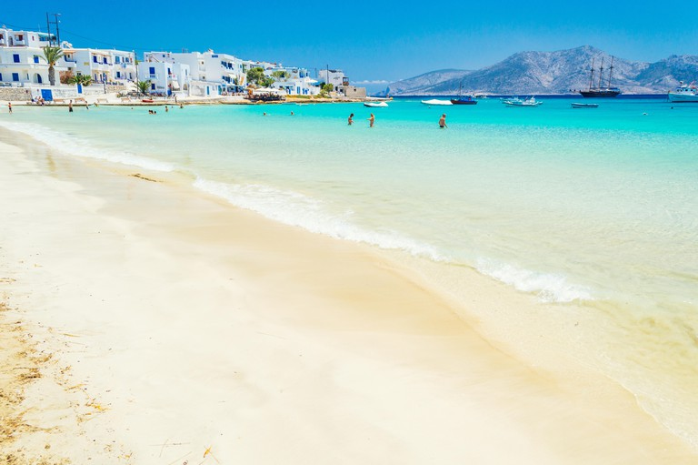 Beach paradise and turquoise waters at Koufonisia, Little Cyclades, off the coast of Naxos, Greece