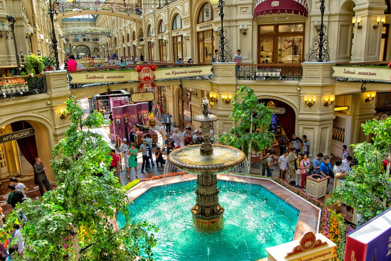 Interior of the GUM shopping mall, Moscow