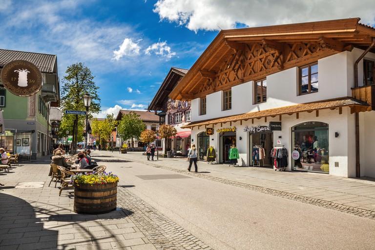 Street in Garmisch-Partenkirchen in Germany. T6EMC9