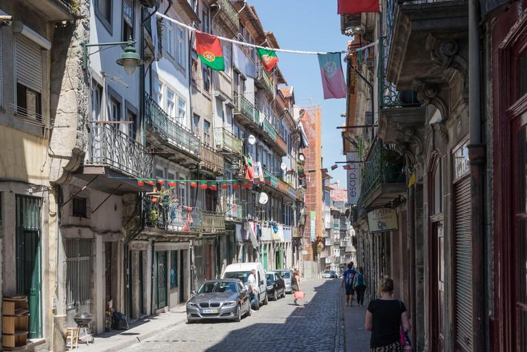 Street in the old Jewish quarter, Miragaia, Porto, Portugal