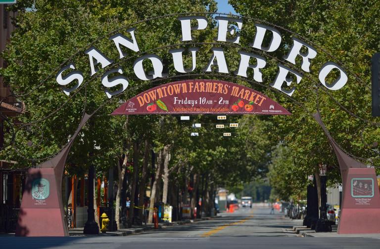 San Pedro Square in downtown San Jose, California CA