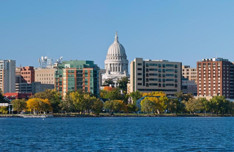 Madison. Image of city of Madison, capital city of Wisconsin.