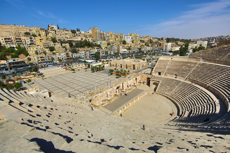 Roman theatre on the Hashemite Plaza in the Old City, Amman, Jordan
