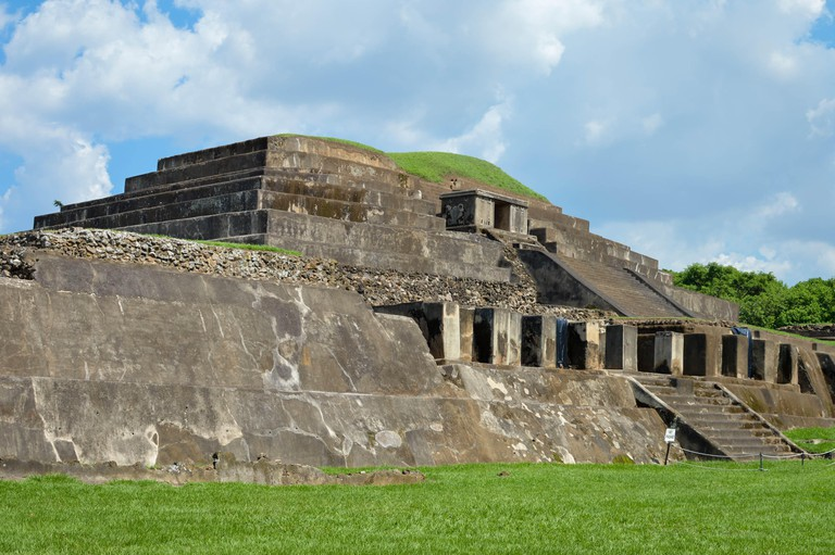 Tazumal archaeological site of Maya civilization in El Salvador. It is an architectural complex within the larger area of the ancient Mesoamerican cit