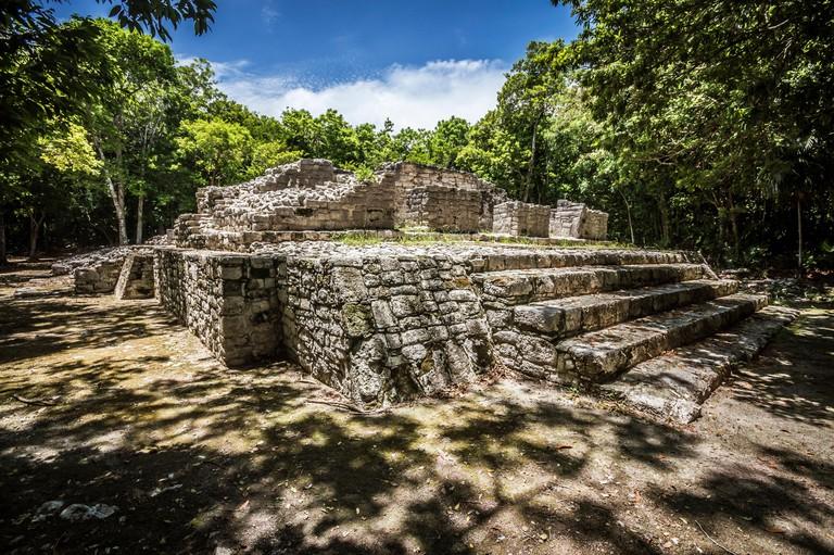 Lothop group - Xelha archeological site (Quintana Roo).