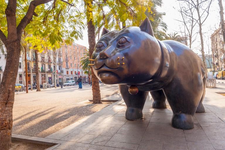 El gat del Raval (The Raval cat), by Botero in Barcelona Spain