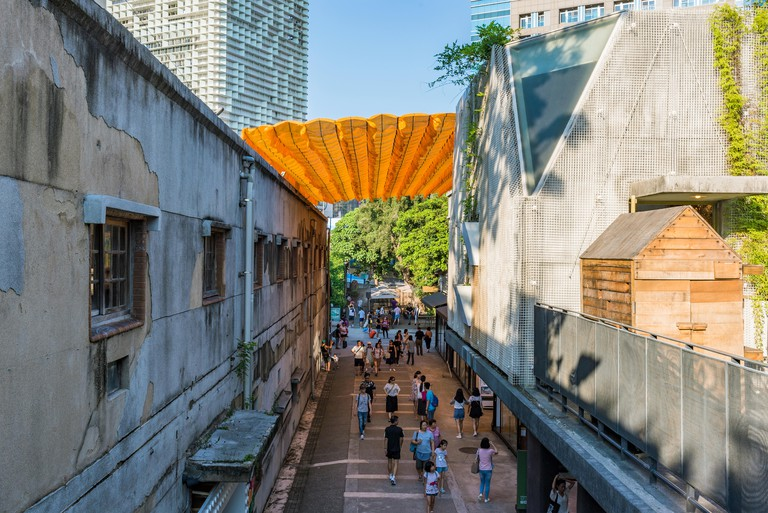 TAIPEI, TAIWAN - JULY 15: This is Huashan 1914 Creative Park which is a park dedicated to art and design exhibitions it is also a popular landmark on