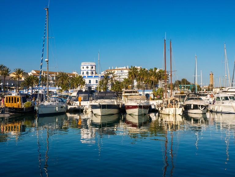 Puerto deportivo Marina Estepona, Malaga province. Costa del Sol, Andalusia Southern Spain.Europe