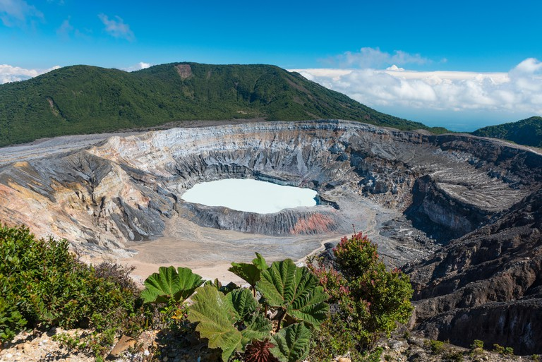 Caldera with crater lake, Poas Volcano, National Park Poas Volcano, Costa Rica