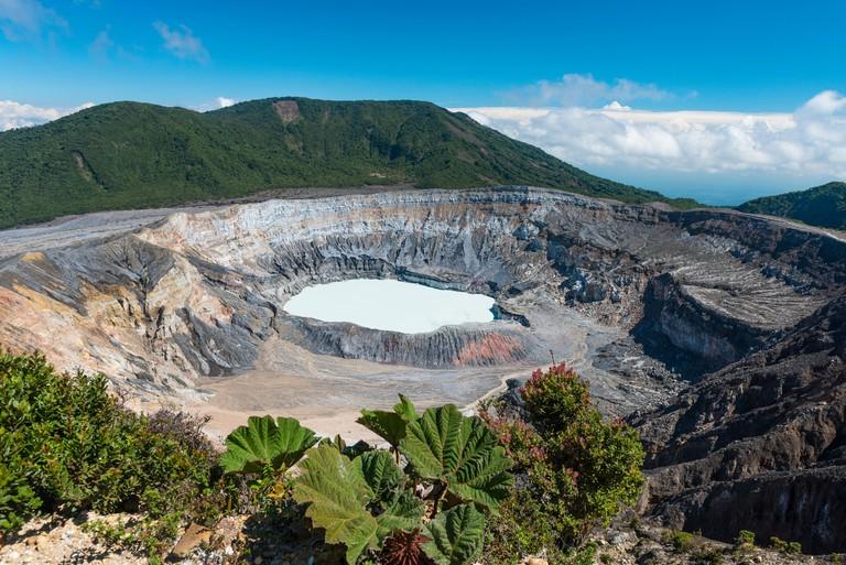 Caldera with crater lake, Poas Volcano, National Park Poas Volcano - HWCFEA
