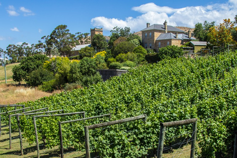 Richmond, Tasmania, Australia - December 21, 2016: Richmond vinyard and winery
