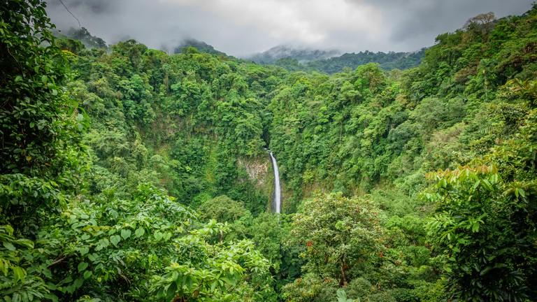 La Fortuna de San Carlos waterfall in Arenal Volcano National Park