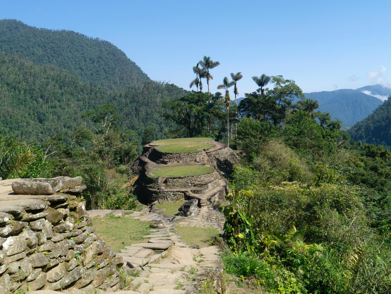 The terraces of the Lost City, Sierra Nevada, Santa Marta, Colombia
