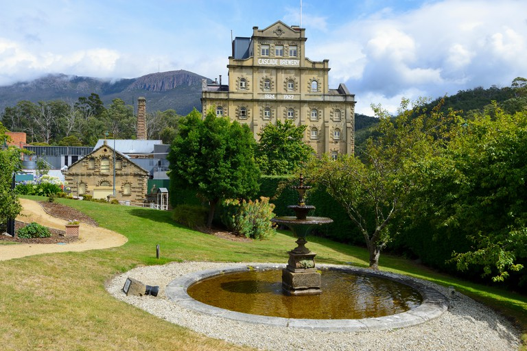 Cascade Brewery, the oldest continually operating brewery in Australia, in South Hobart, Tasmania, Australia