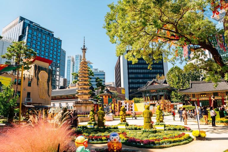 Seoul, Korea - October 8, 2020 : Jogyesa Temple