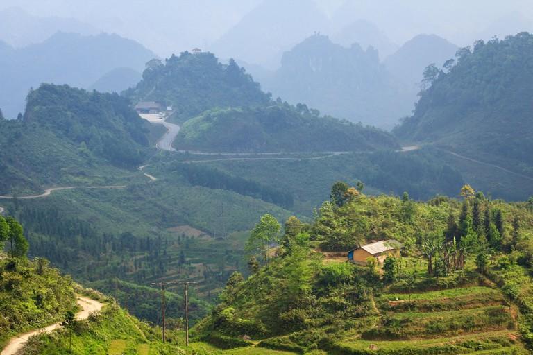 Quan Ba Heaven Gate, Ha Giang, Vietnam. Quan Ba is a rural district of Ha Giang province in the Northeast region of Vietnam.