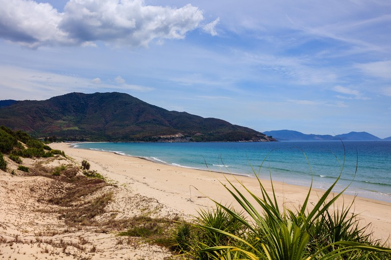 Bai Dai beach (also known as Long Beach), Khanh Hoa, Vietnam. Bai Dai Beach is located 30-40 minutes south and is without a doubt the best, most chill