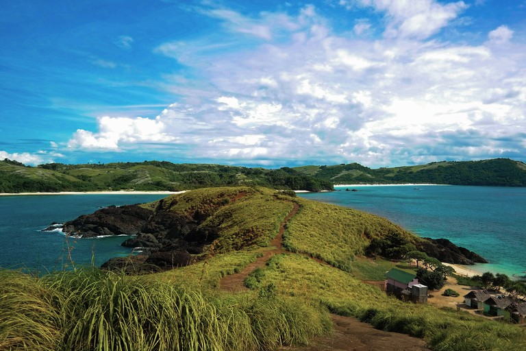 View from the top of Balagbag island in the Calaguas group of islands, Philippines