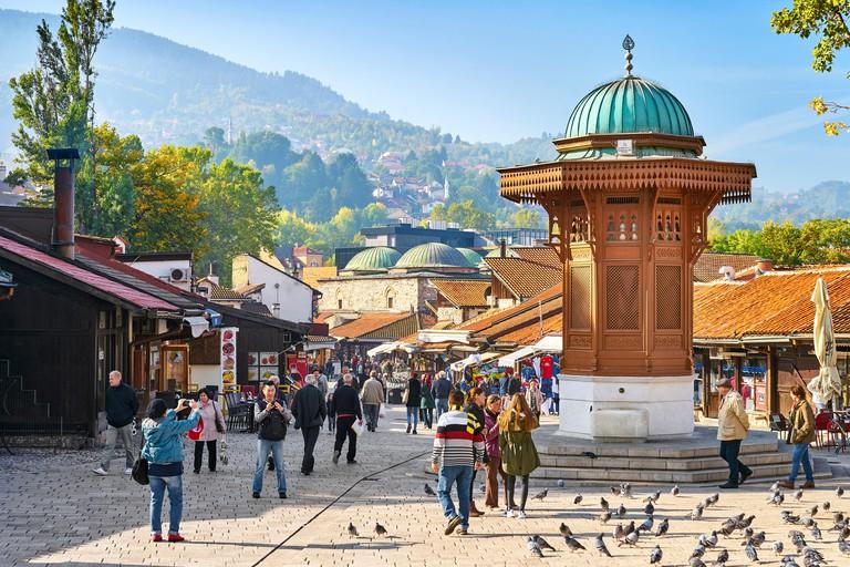 Sebilj Fountain, Bascarsija district, Sarajevo Old Town, Bosnia and Herzegovina