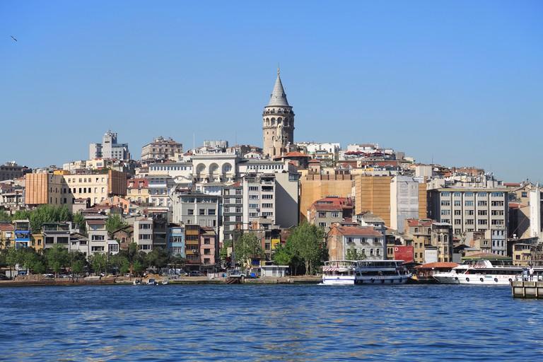 Galata Tower, Golden Horn, Beyoglu District, Istanbul, Turkey, Europe