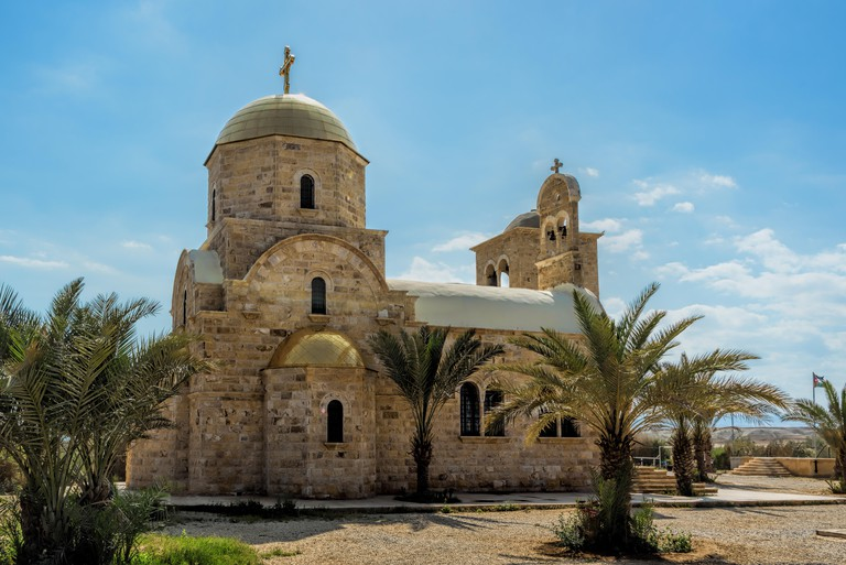 Greek Orthodox Church of John Baptist in Al-Maghtas, historical place of baptism of Jesus Christ, Jordan