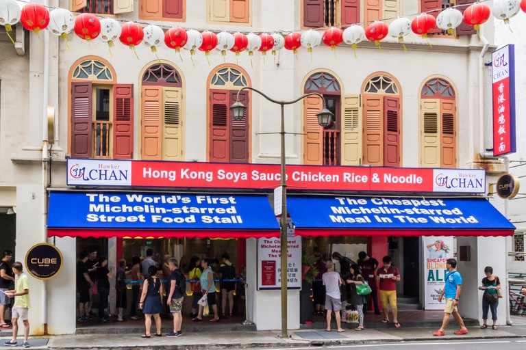 Hawker Chan one star Michelin restaurant, Smith Street, Chinatown, Singapore